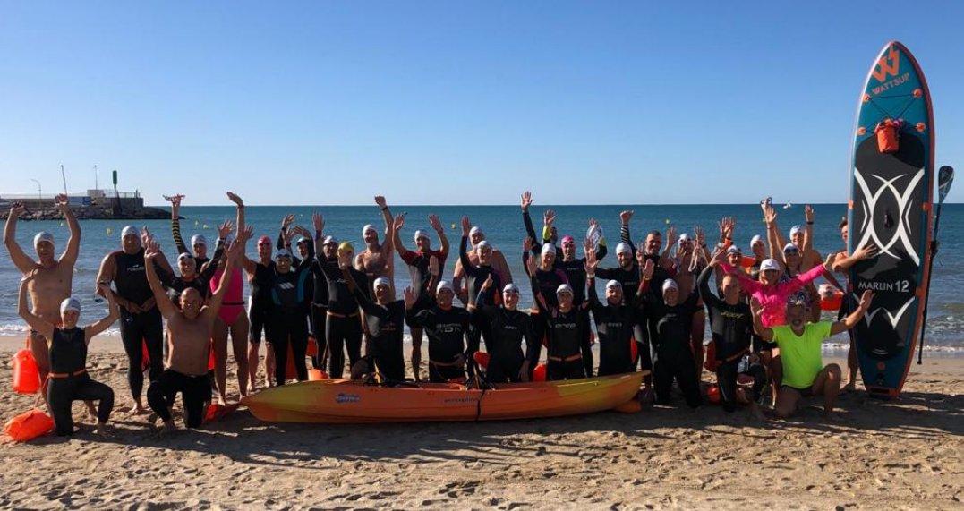 Un grup de nedadors Màsters CNTàrraco ha participat avui 27 setembre a la Nedada solidària x l'Alzheimer, organitzada pels #malaltsdaigua, amb el Jordi Cervera al capdavant, nedant els 4km q separen el Port de Salou fins a la Torre d'Esquirol de Cambrils. #Connectatperlalzheimer https://t.co/QlkByOlind
