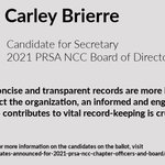 Image for the Tweet beginning: Meet Carley Brierre, candidate for