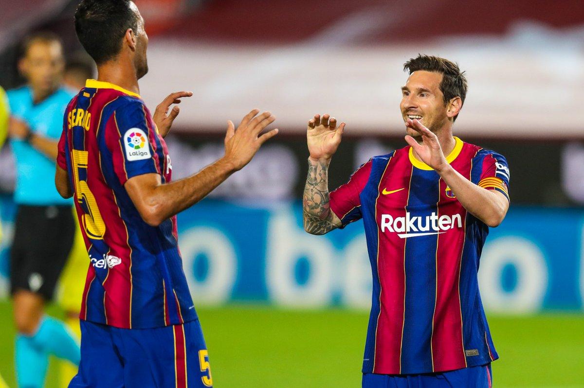 ⏰ İlk yarı bitti!  ⚽ #BarçaVillarreal (4-0) https://t.co/51OVtcXCwV