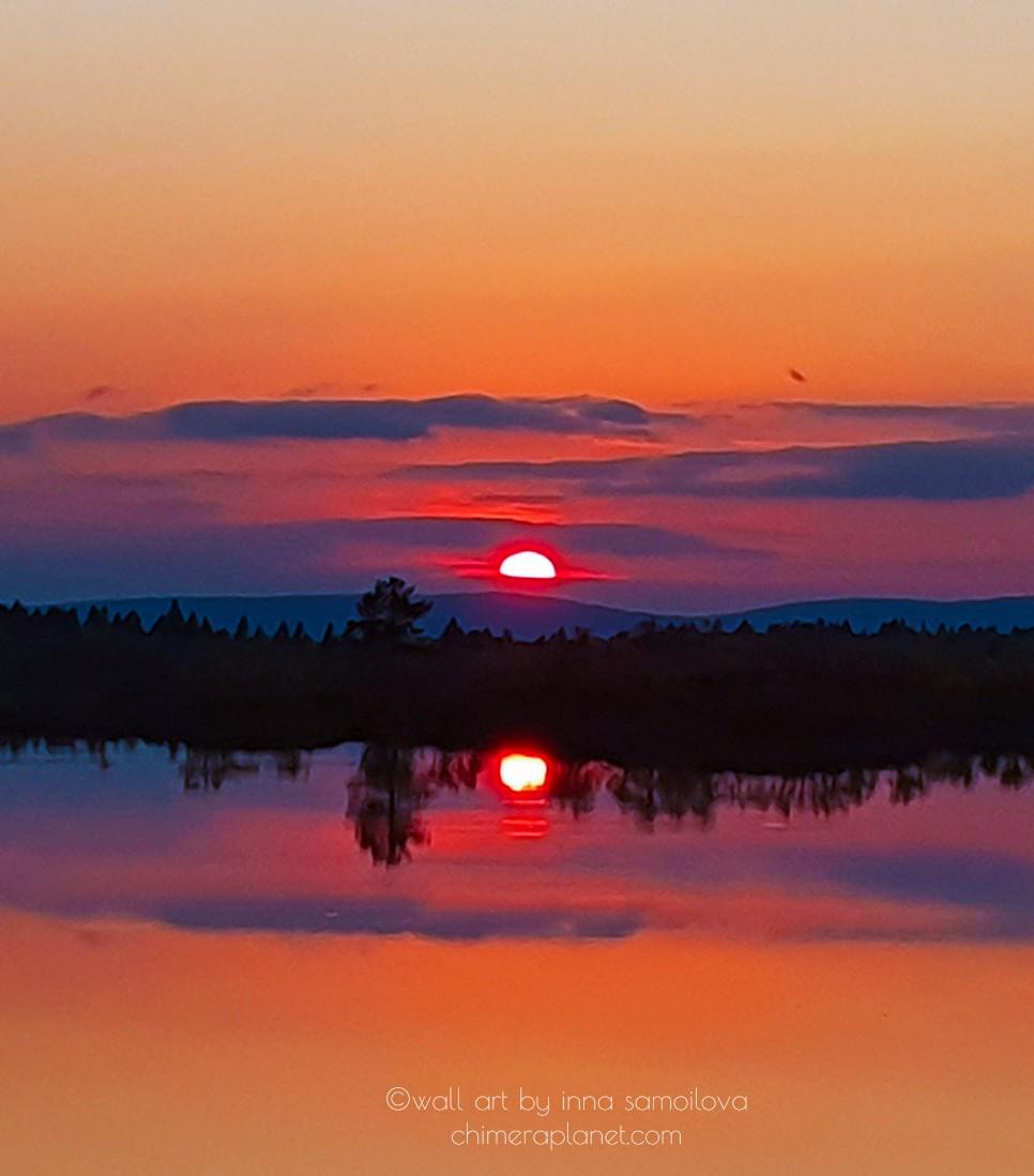 Magic sunset in Inari, Lapland, Finland..🥰🌲🍂🍁 #Finland #VisitLapland #sunset #Earth #nature https://t.co/7jzbkrlxct