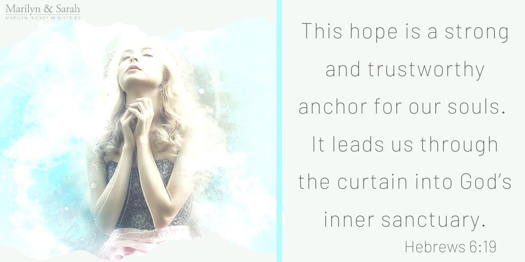 This hope is a strong and trustworthy anchor for our souls. It leads us through the curtain into God's inner sanctuary. Hebrews 6:19 #Savior https://t.co/sp03hnvSya