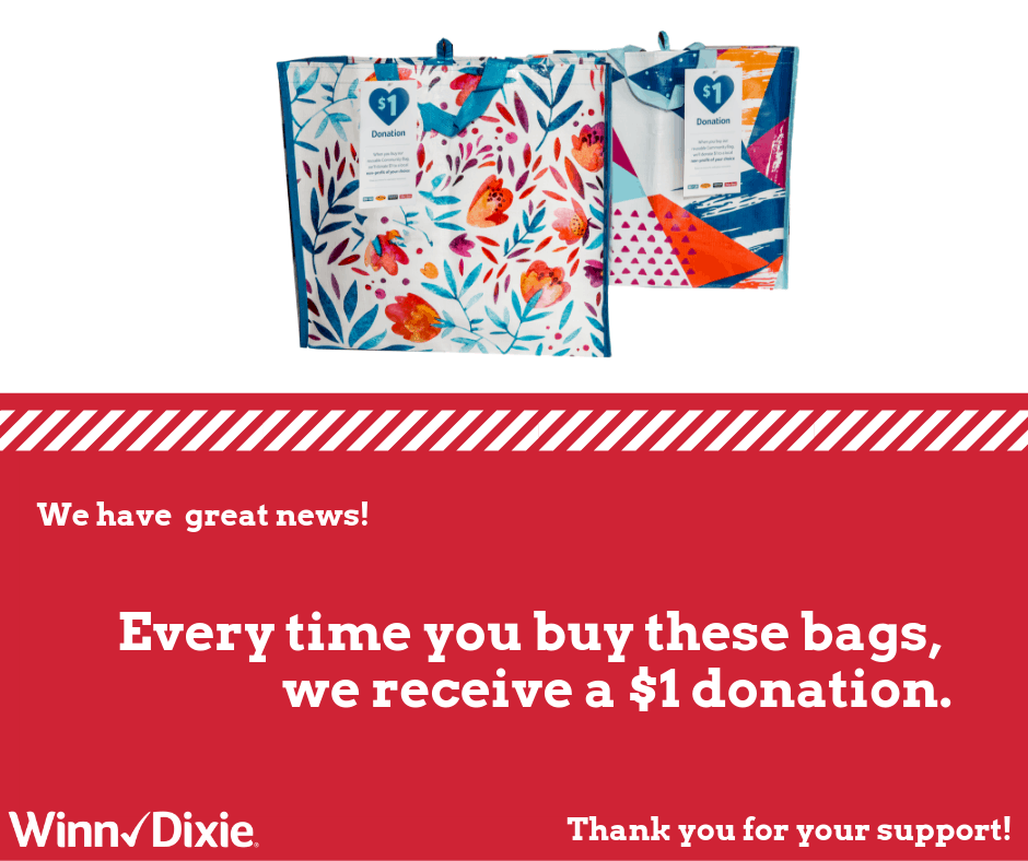 We're excited to share that every $2.50 Community Bag purchased in October at the @WinnDixie located in Gulfport will send a $1 donation to us! #giveback #dogood #LiveUnited https://t.co/CXhhxYSFxm