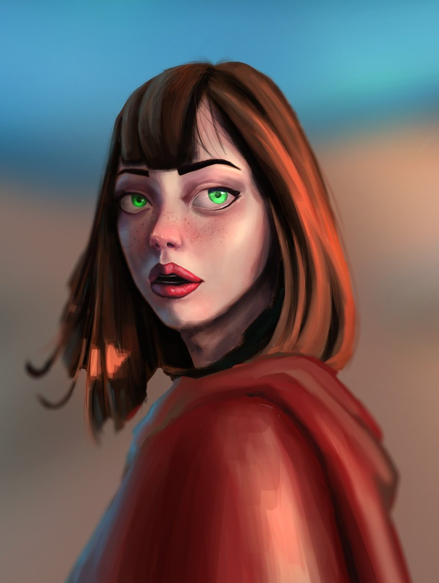 Portrait study Reference from pinterest: #characterdesign #drawing #sketching #design #illustration #conceptart #2D #concept #girl #digitalart #painting #dailyart #instaart #art #doodle #wacom #intuous #xppen https://t.co/HTeQZyw1gw