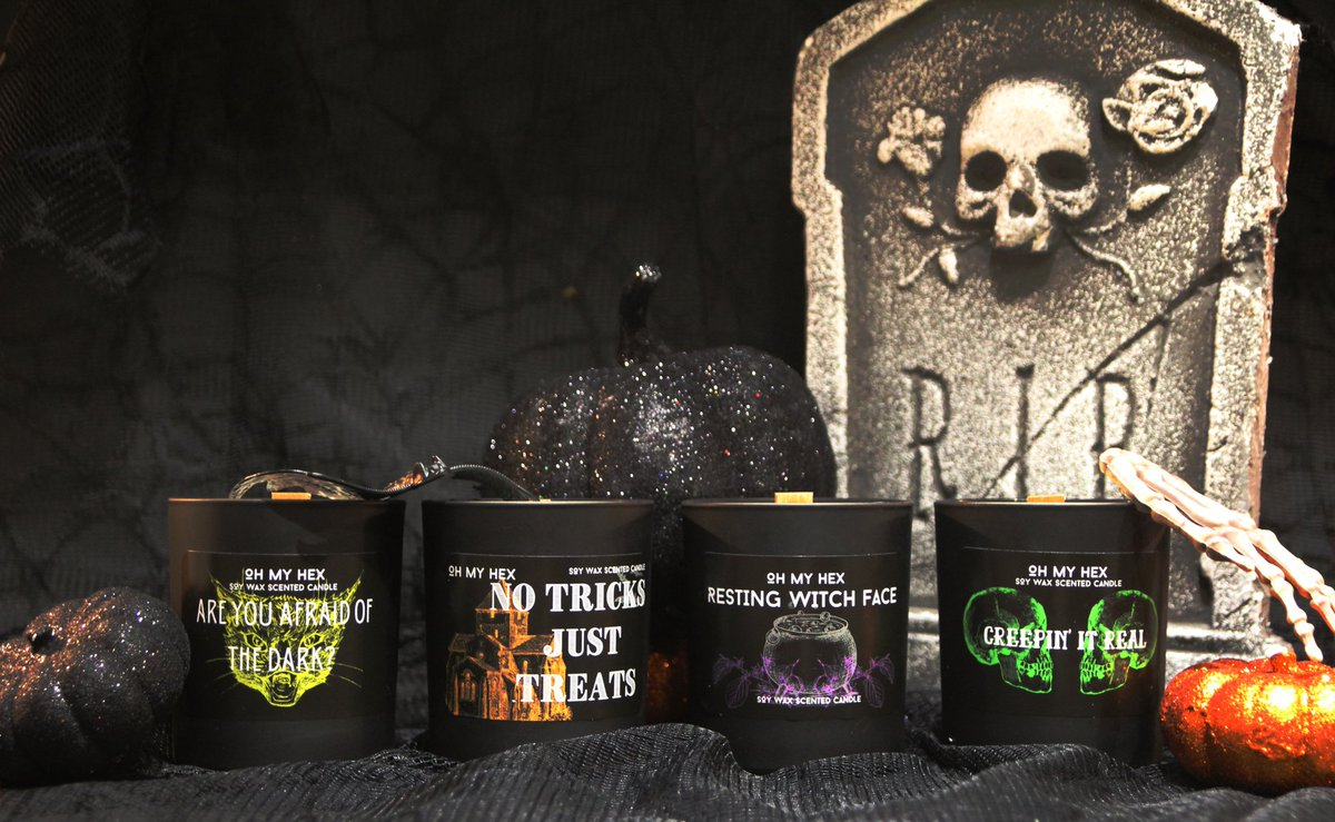 Wanna #supportwomenrunbusinesses ? @ohmyhex_ have just launched their new candle ranges for halloween and autumn and they are already selling quickly! Get your hands on one now. #supportsmallbusiness #Autumn #Halloween #Candle #Vegan #handmade   https://t.co/HA8J6dAvRs https://t.co/XHQJd6JmSg