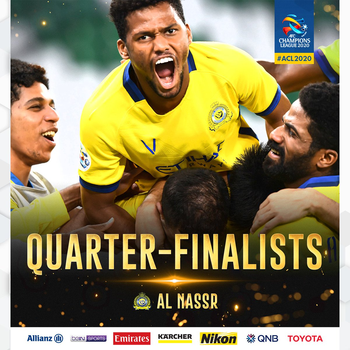 QUARTER-FINALISTS  🎉 Congratulations 🇸🇦 Al Nassr FC!  🏆 #ACL2020 https://t.co/9RL4r3xXaI