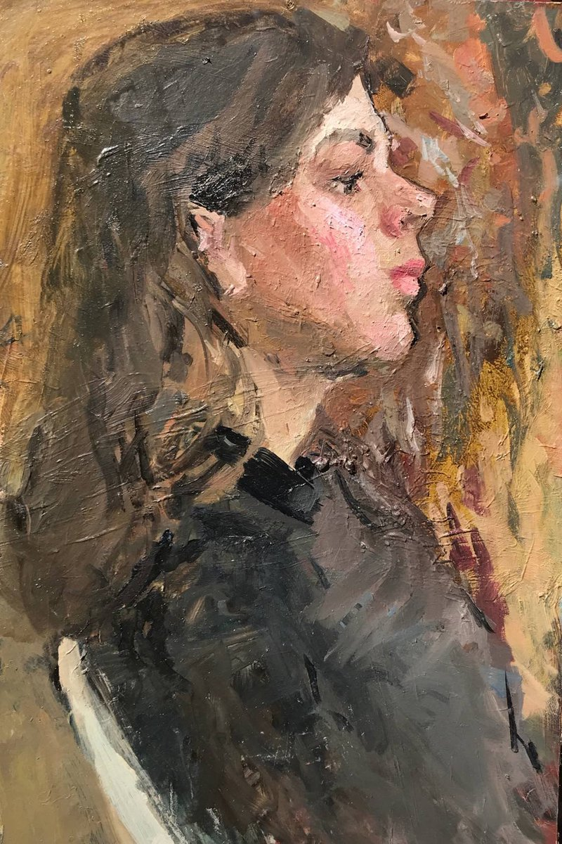 Excited to share this item from my #etsy shop: Superb Original oil painting, Ukrainian Expressionism Portrait of a Girl, European Fine Art, One of a kind https://t.co/arQZma8LLS #female #artforsale #girl #student #beauty #woman #vintageart #vintagepainting #walldecor #homedecor https://t.co/LDngMXA0Jq