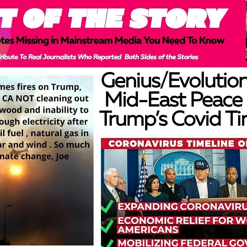 Rest of Story (not covered by #media) > Genius/Evolution of #MidEast Peace Deals, Trump's #Covid Timeline (in answer to Woodword, Biden, Pelosi, etc),Respected China virologist confident China created covid19 in lab ... https://t.co/3WUt1L96dG #news #trump 🛠 ✅ ✌ 🇨🇳 🗞 🛏 https://t.co/TaNhIzDW0Z