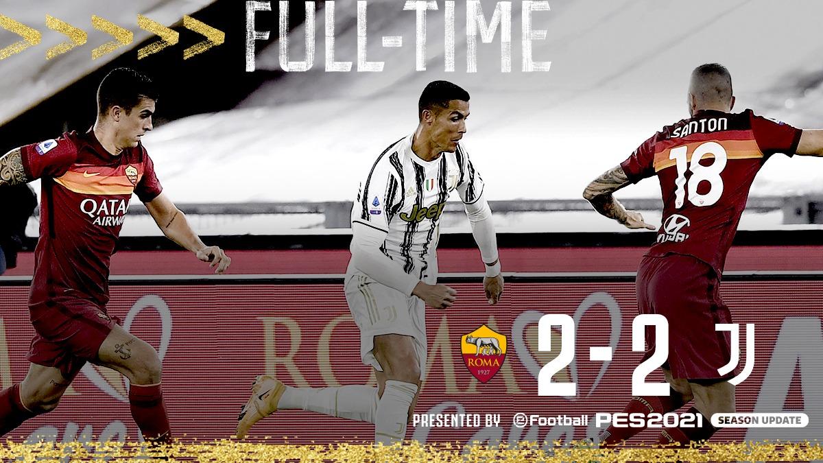 FT   ⏱   We comeback twice in the capital to earn a point ⚪⚫  #RomaJuve #FinoAllaFine #ForzaJuve https://t.co/jngKnXtjHC
