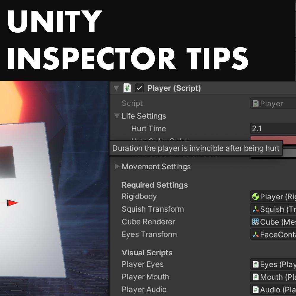 Unity - Inspector Tips Article: https://t.co/J6KtAetNUE ➡️ Follow @mefirstgames⠀⠀⠀⠀ #gamedev #indiegamedev #indiegame #games #gamer #coder #coding #programmerlife #unity3d #webdev #codinglife #programmer #coding #fun #softwareengineer #software #coder #programmer #unity https://t.co/XUTLZSPrBI