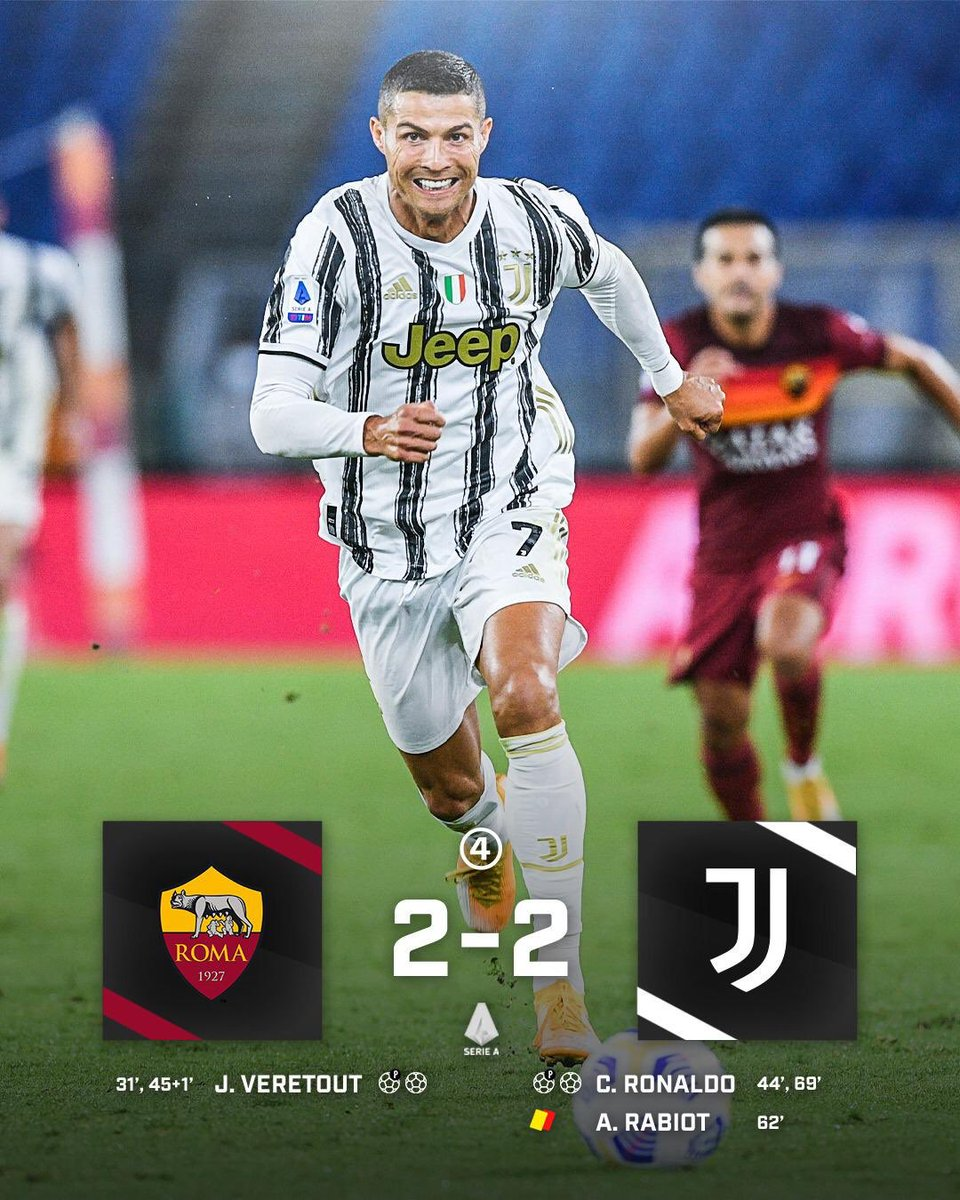 """433 on Twitter: """"A @Cristiano brace rescues a point for Juventus … """""""