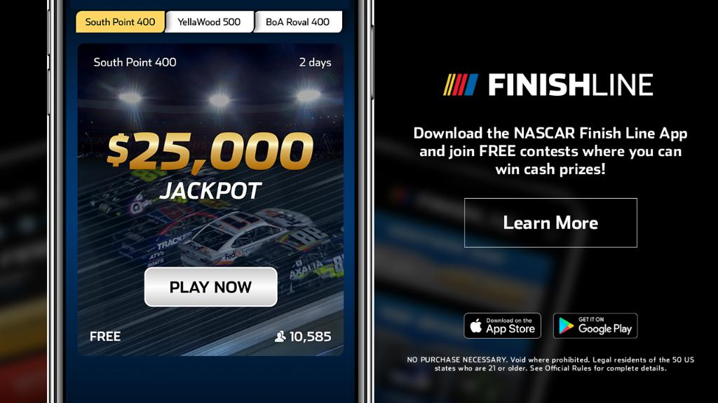 Download the NASCAR Finish Line App with $1,000 guaranteed in prize winnings each week! 📲: nas.cr/3087qqV