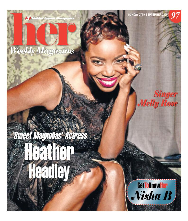 She stole the hearts of viewers as Helen Decatur in the Netflix original series, Sweet Magnolias She is an Emmy & Grammy award winner - but best of all..she's Trinidadian! (Yes we can boast)🇹🇹 Here's my #cover story on this dynamic superstar, @heatherheadley who graces HER today!
