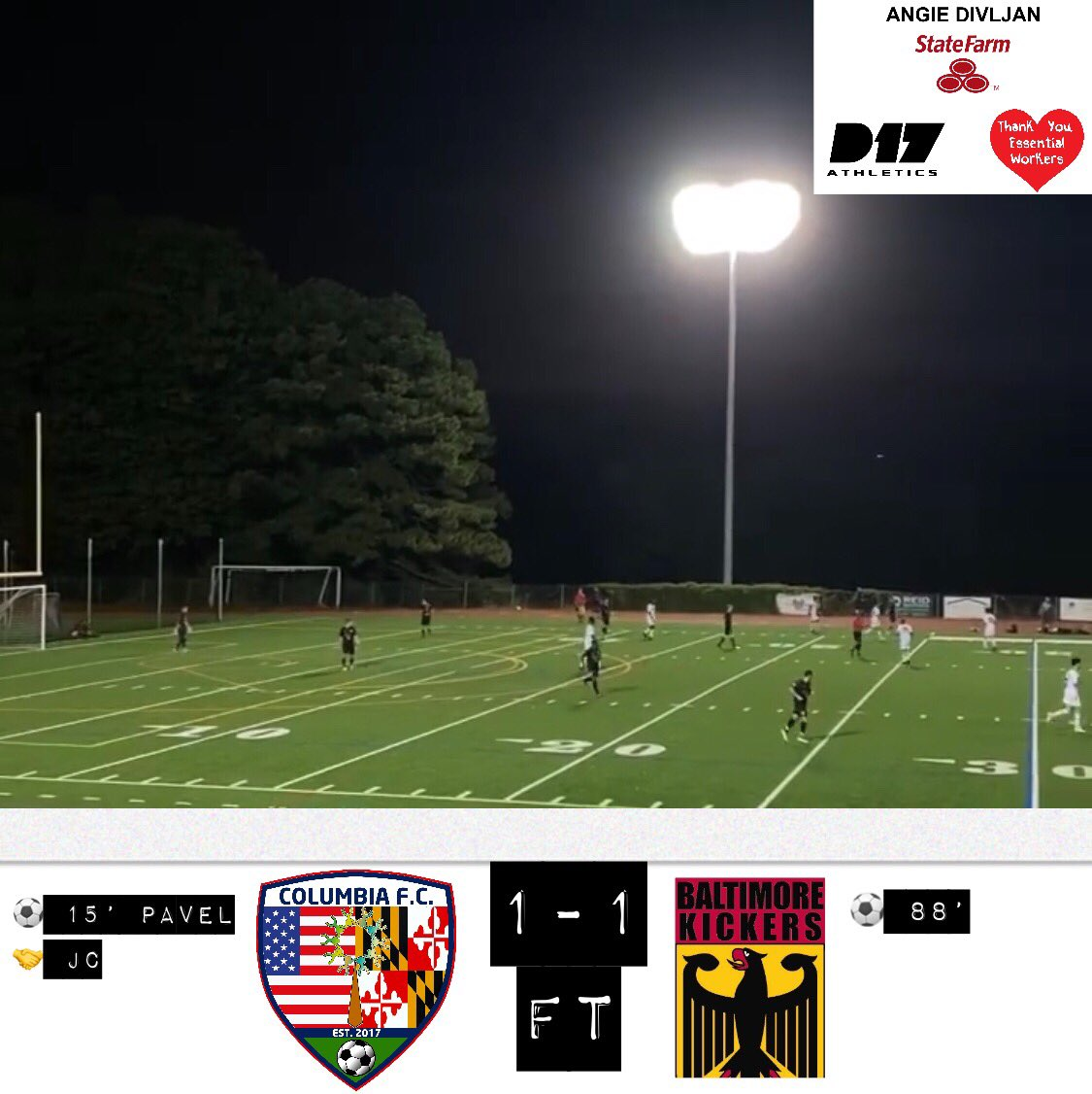 ⚽️🦾 Not the result we wanted, great game vs @BmoreKickers now we get back to work and get ready for the next game. LET'S GO TEAM!!! All for one, One #ForAll #team #soccer #saynotoracism @D17Athletics @ColumbiaMDTweet @marylandsoccer @MarylandMajors https://t.co/M7Ois2XUpb