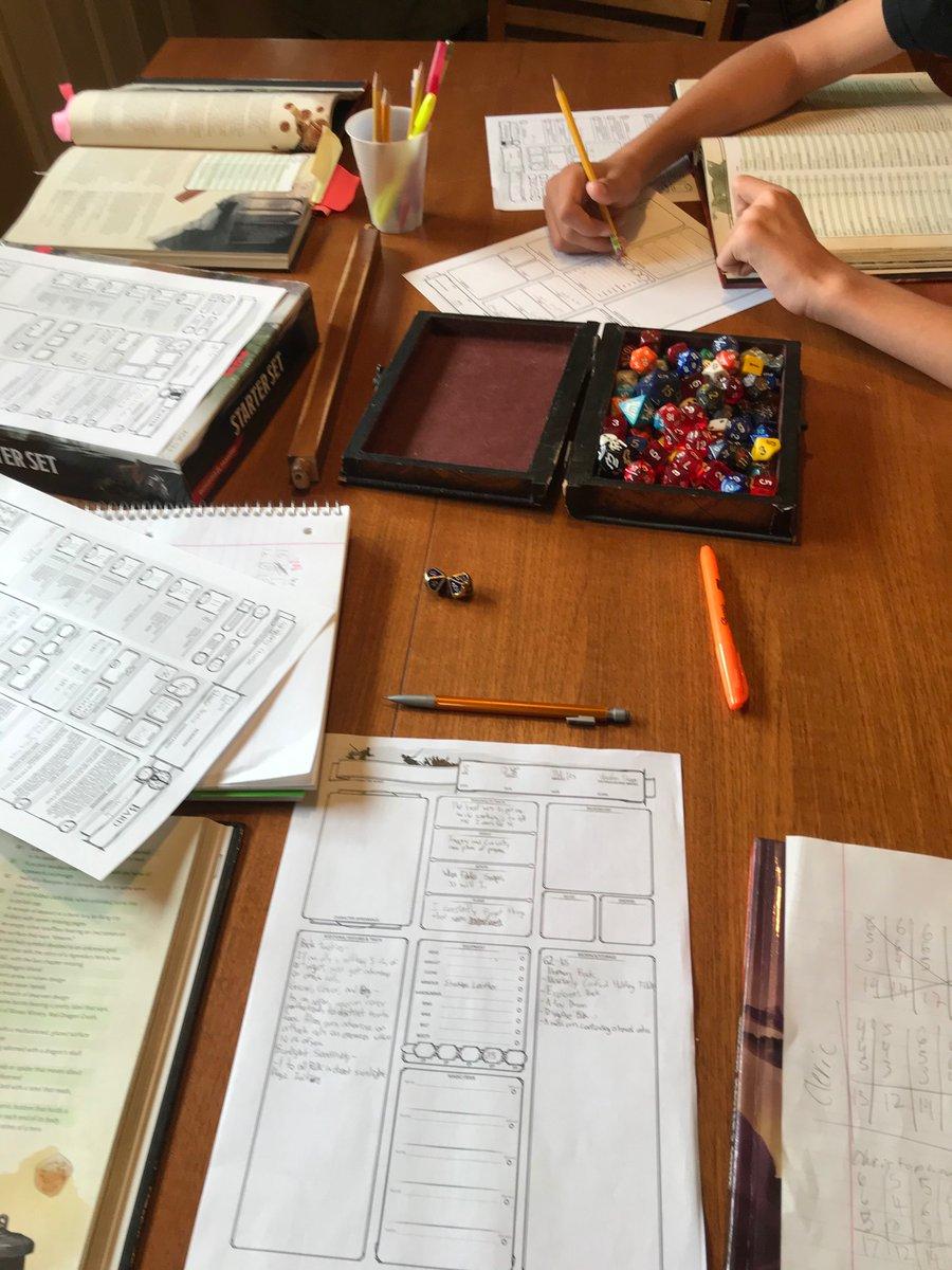 Father/son/neighborhood kid's 6 hour impromptu, Sunday D & D game today! 5 plyrs/1 DM Ghosts of Saltmarsh scenario.  #DnD  #TTRPG  #dnd5e  #RPG  #tabletopgaming  #Tolkien  #teenagers  #Childhood  #dungeonsanddragons  #fatherson  #tabletop  #tabletopgames #friendship  #fatherhood https://t.co/bOMAkFaqVJ