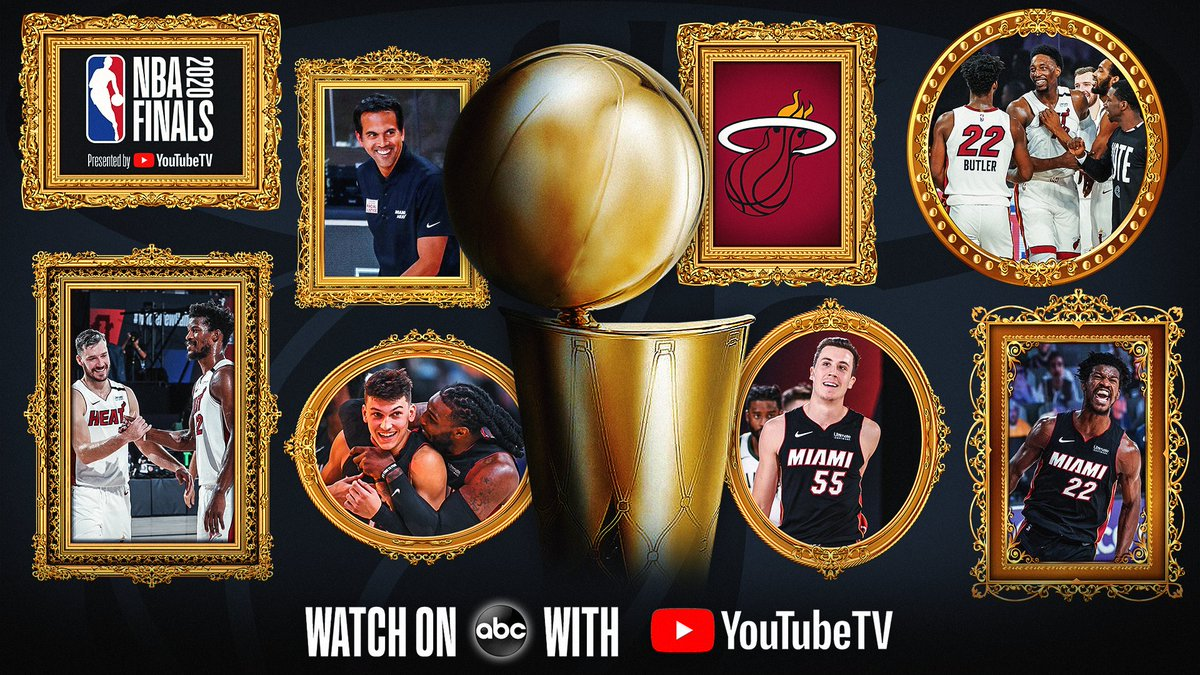 The Eastern Conference Champion @MiamiHEAT advance to the 2020 #NBAFinals presented by @youtubetv https://t.co/XpZcSqltLC https://t.co/qp4mpSgnuM