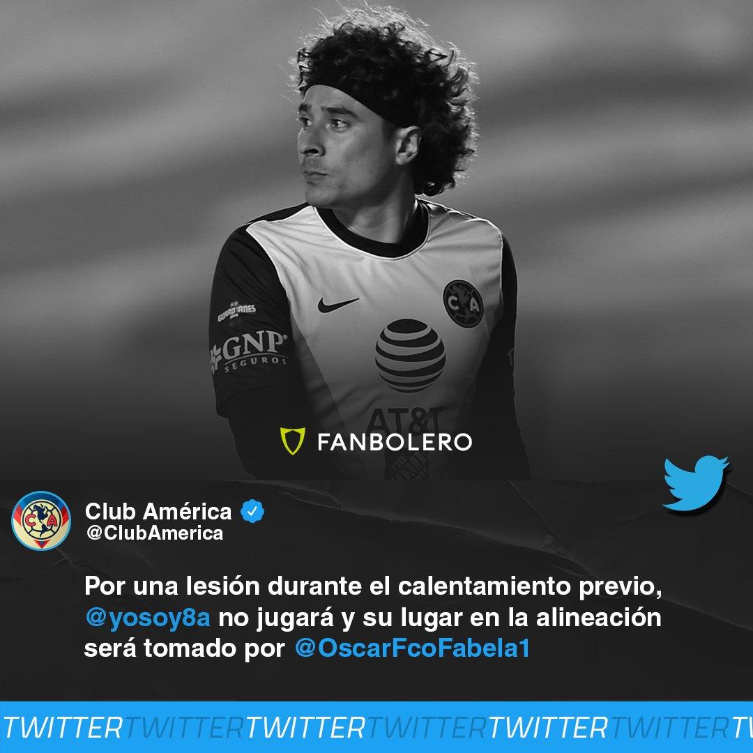 ¡ENTRA AL RESCATE!  Debido a una lesión que sufrió en el calentamiento, Guillermo Ochoa no estuvo listo para disputar el Clásico Joven y su lugar fue tomado por Óscar Jiménez, quien se está viendo bien en el partido 😱🚨🦅🚂  #Ochoa #Jimenez #CruzAzul #ClubAmerica #Guard1anes2020 https://t.co/SMhU7SuEik