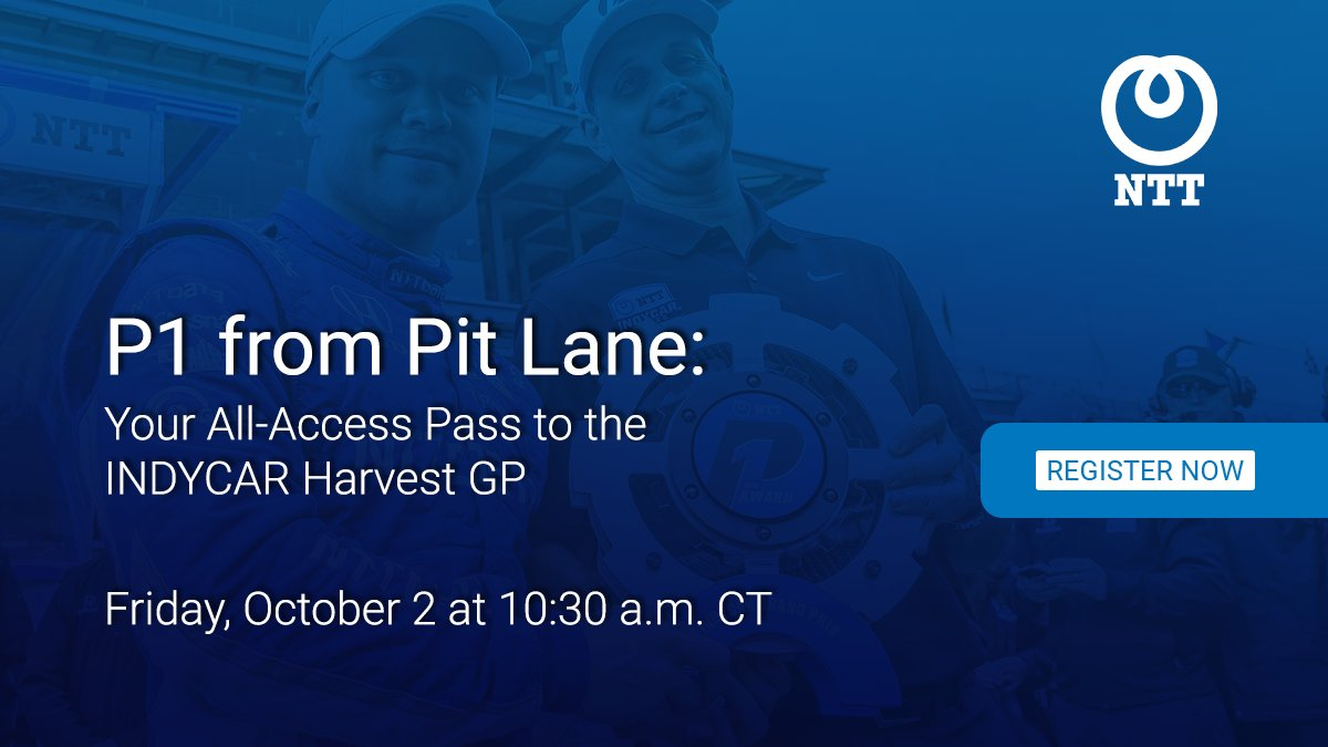 It's hard for #INDYCAR fans to miss on-track action during a race. But what about everything going on behind the scenes? Register now to attend NTT's #HarvestGP webinar, where you'll learn what happens in tech inspection, race control and more. https://t.co/IZrmGC0E7g https://t.co/Vh2sEVp1Ax