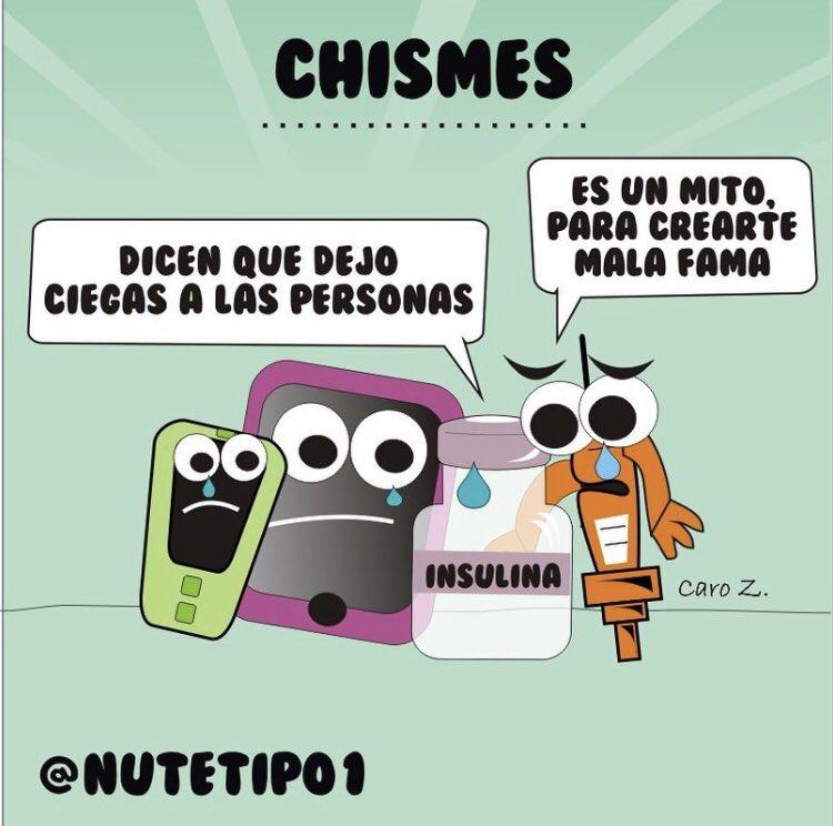 """Chismes"" #mitos #diabetestipo1 #insulina https://t.co/9AxQG6qiDI"