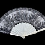 Image for the Tweet beginning: Fan, Unidentified (French), 1875-1890