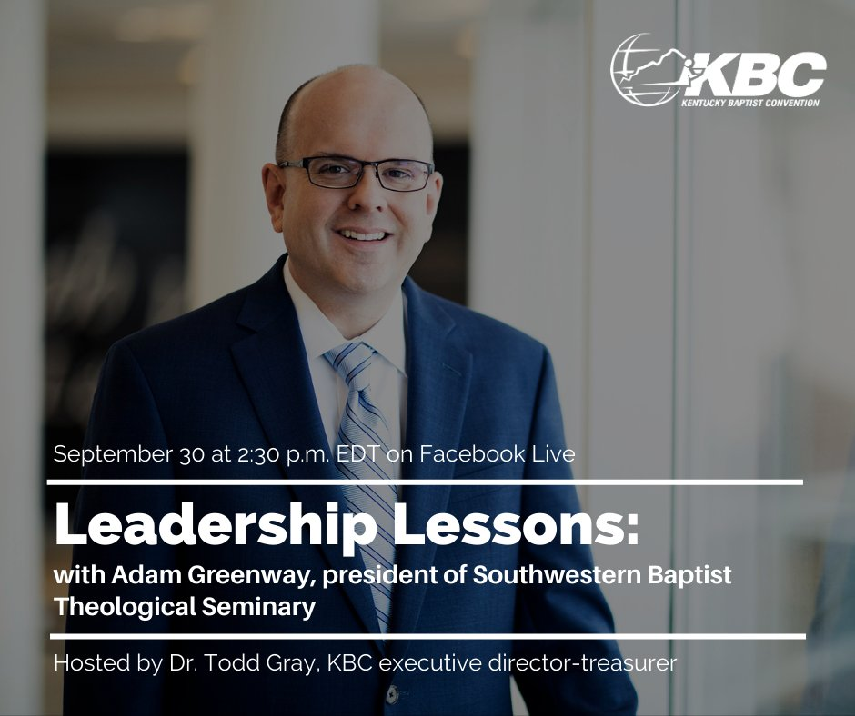 Join @AdamGreenway and @toddgray4 for this weeks episode of Leadership Lessons. Tune in on Wednesday at 2:30 p.m. EDT on Facebook Live.