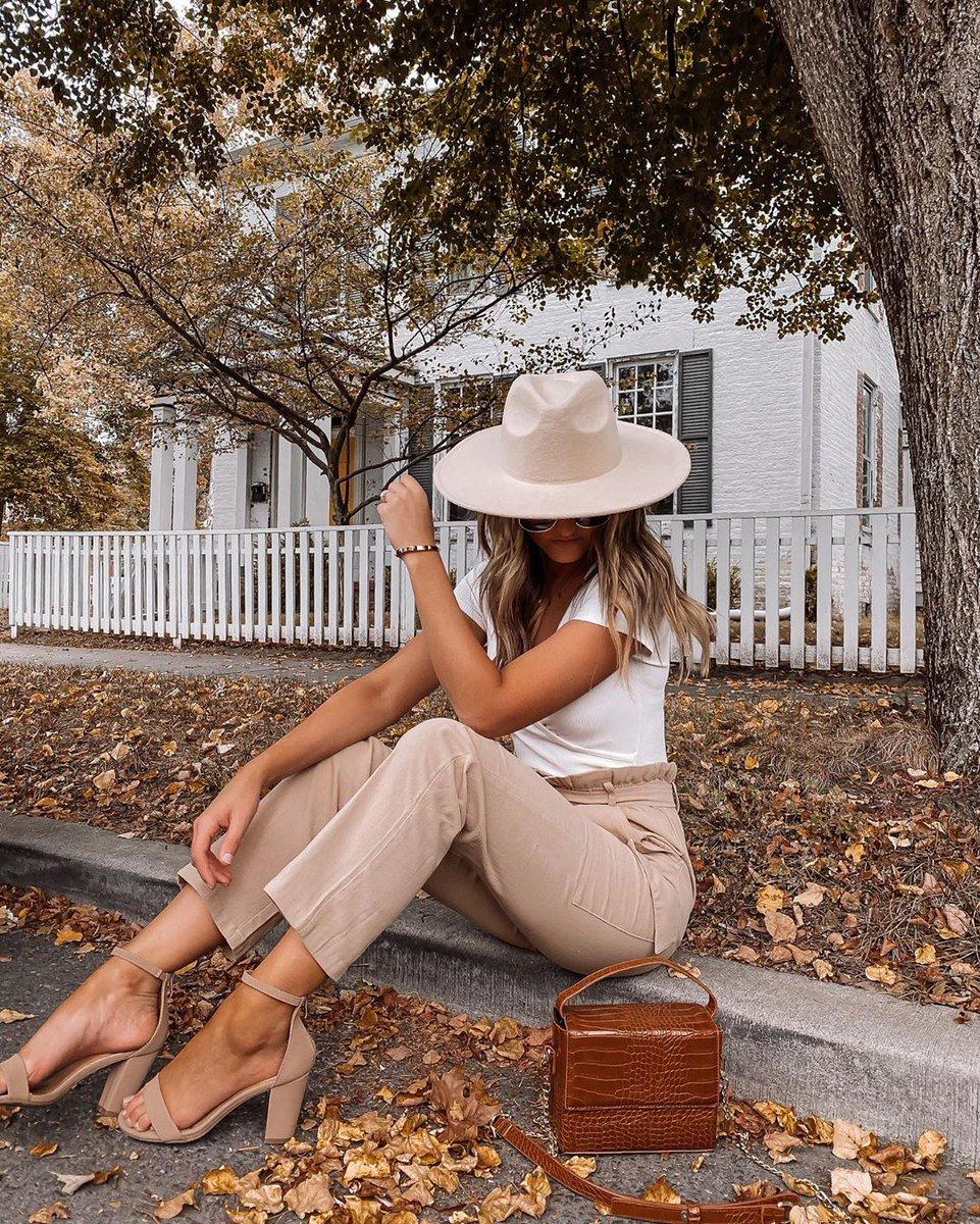 Autumn neutrals 🍂 Mykal Bailey in the Good Mood white ribbed short sleeve surplice bodysuit and Utility beige paperbag waist cargo pants #lovelulus #lulusambassador via https://t.co/Qmt7oYmhj2 Shop her look: https://t.co/Hr6iW0FyYB https://t.co/ImUo0tZRJh