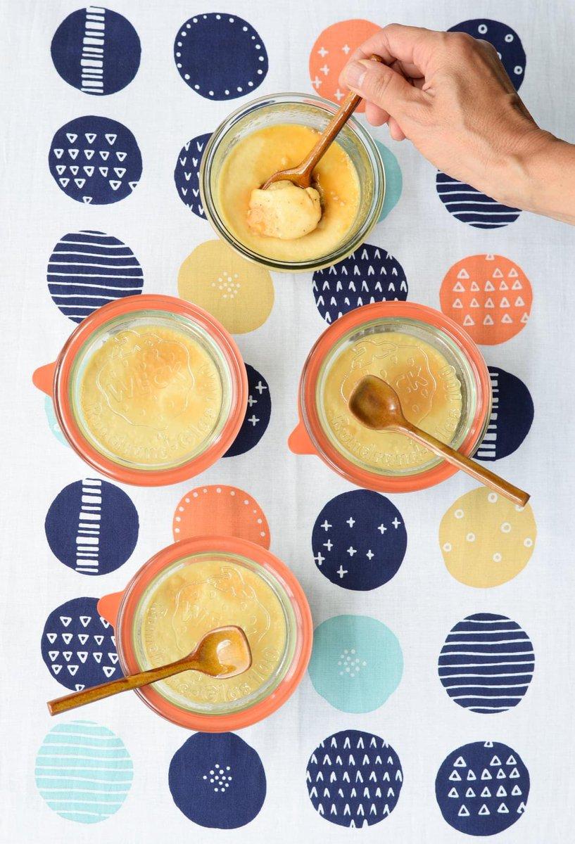 久しぶりの秋晴れ、新しい週の始まり、家族に1人一個ずつ、大きなおいしいプリンが出来た!#pudding #プリン #自家製 #自家製プリン #プリン大好き https://t.co/7lv1nIrnUl