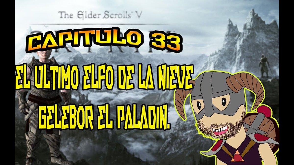 THE ELDER SCROLLS V SKYRIM |GAMEPLAY EN ESPAÑOL| CAP 33| El ultimo elfo de las Nieves.  https://t.co/NbiZSJkbJF  #skyrim #elderscrolls #juegos #gamer #gameplays #gameplay #video #videojuegos #YouTube #YouTuber https://t.co/27RLLSVKHw