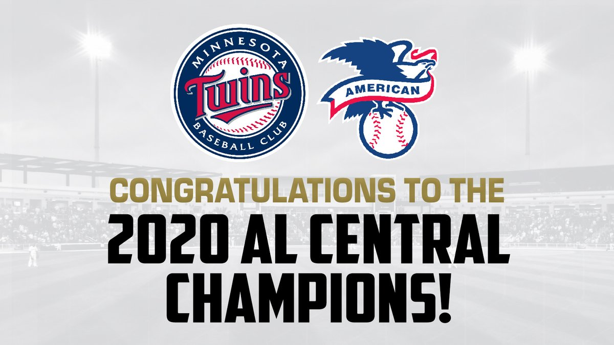 The Minnesota Twins have won the division title in 100% of the seasons they've had Pensacola as an affiliate.   Coincidence?🤷  Congratulations to the 2020 American League Central Division champions! https://t.co/quCUE5eiN9
