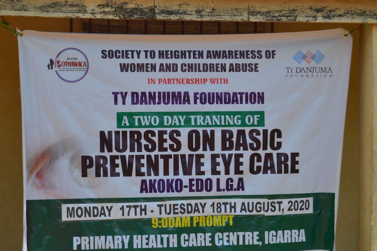 #Health #PreventableBlindness #EyeCare In Akoko Edo LGA, Edo State, Society to Heighten Awareness on Women and Children Abuse trained 38 primary health workers on basic eye care. https://t.co/SHrawoKU7G