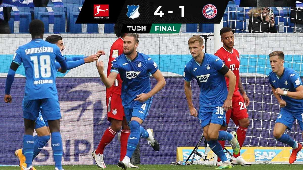De no creerse 😨  Bayern Munich cae por goleada ante Hoffenheim 😱  👉 https://t.co/fSY85Ae8Tq   #TSGFCB |#Bundesliga |#BayernMunich https://t.co/Qc3vOYYmZy