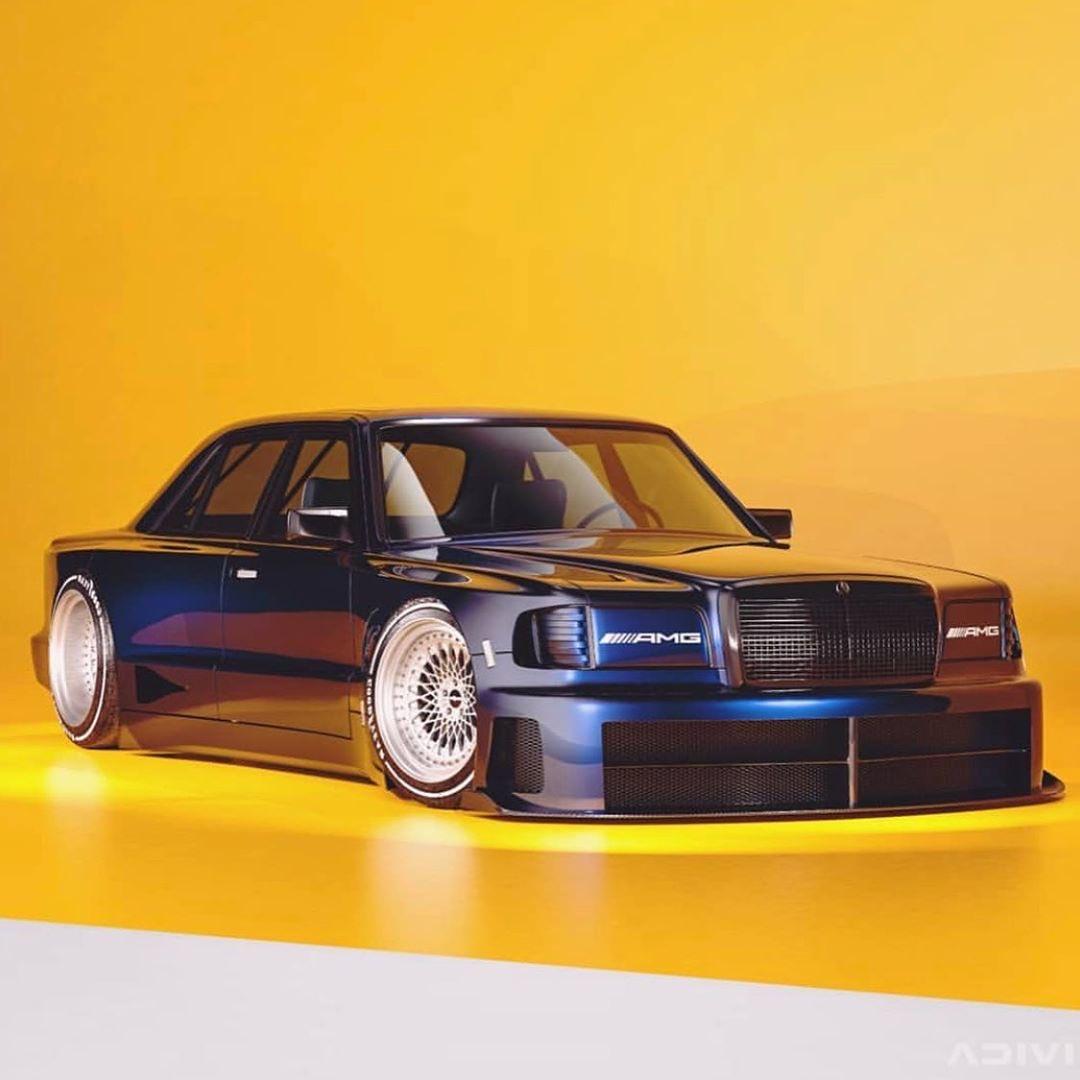 The concept #W126 car: a clash of the future and past. 📸 @karanadivi