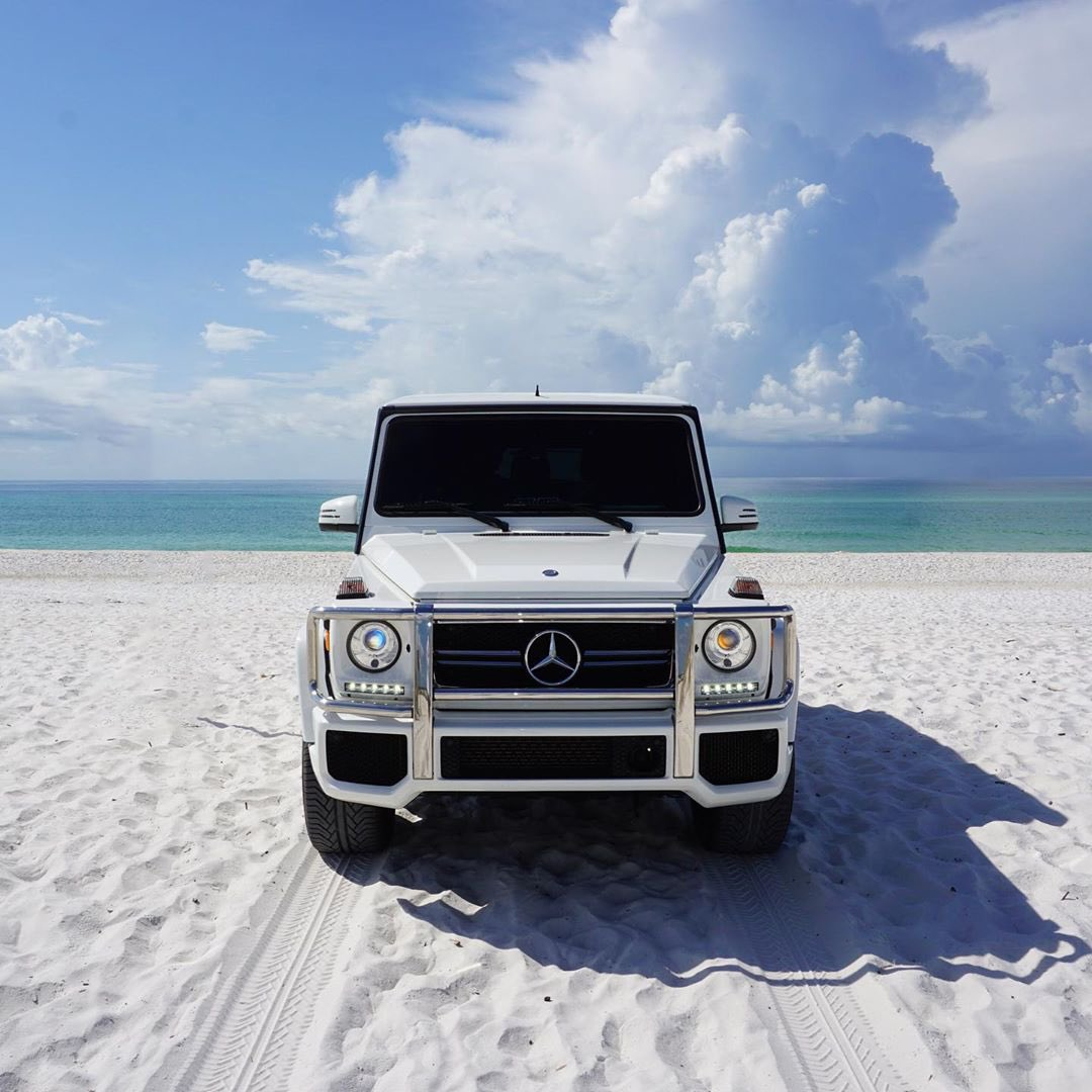 Beauty and the beach. #G63