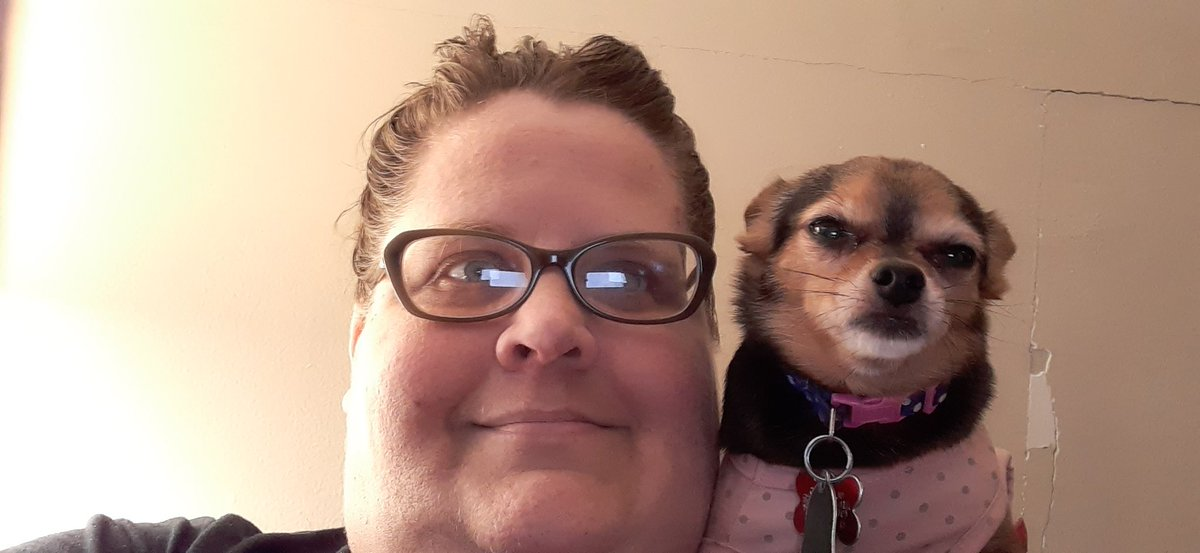 Still feeling like crap, but I got my baby girl by myside.   #Coco #Dog #Chihuahua #dogslife #dogsarelove #dogsarefamily #dogsoftwitter #chihuahualover #DogLover #cutechihuahua #cutedog #sick #bronchitis #sickfurmomma https://t.co/Rsp0AgQfyL