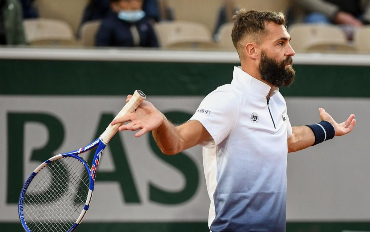 Benoit Paire since tennis' restart:   ❌ Retires at Cincinnati ❌ Contracts #COVID19 ❌ Withdraws from US Open  ❌ Accused of tanking in Rome ❌ Retires in Hamburg ❌ Tests positive for a second time  ✅ Wins #RolandGarros first round match  Only him.   😌😌😌 https://t.co/PL2hvjw4HP