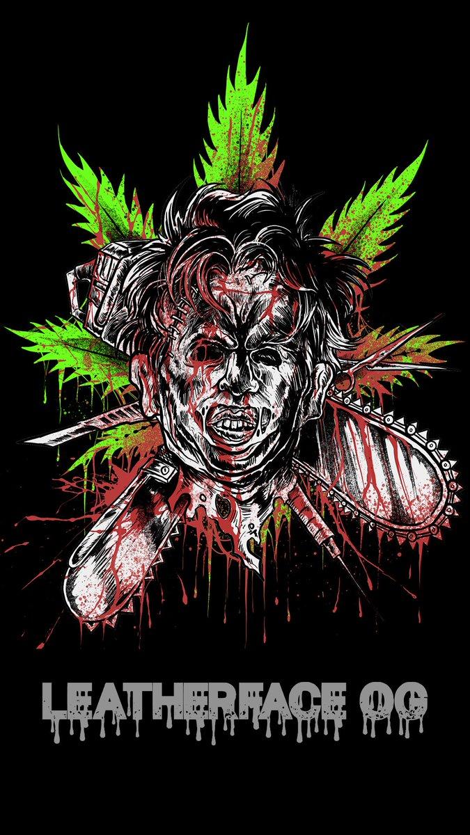 Don't smoke with this guy, he's got MAD munchies 👀🔥💨  Merch Drops October 1st!   #leatherface #og #texaschainsawmassacre #horror #HorrorFamily #HorrorArt #420friendly #CannabisCommunity #stoner #clothing #ClothingBrand https://t.co/ucshEL6VjI