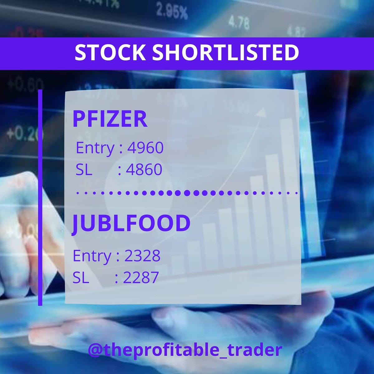 Stocks Shortlist for today, based on market opening will take position.   1. NAUKRI 2. JUBLFOOD 3. BIOCON 4. PFIZER  #nifty #sensex #profitfirst #priceaction #SwingTrading #StocksToTrade #stockstowatch #theprofitablewatchlist https://t.co/hjuRzd6zNY
