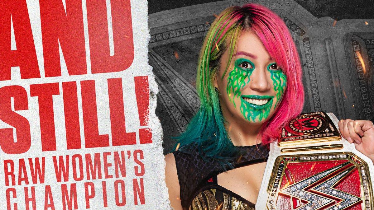 RT @WWE: The Empress is always ready.  @WWEAsuka is STILL your #WWERaw #WomensChampion! #WWEClash https://t.co/Py6TNTZgHc