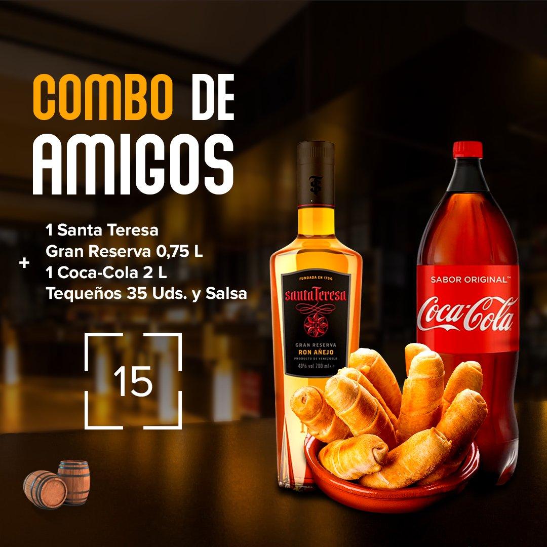 ¡Disfruta este fin de semana de un Combo Amigos!  Incluye  - 1 Ron Santa Teresa Gran Reserva 075L - 1 Coca Cola 2 L - 35 unidades de tequeños de queso.   #Labodegadeelias #tequeñosgourmet #tequeños #rondelivery #caracasron #comboamigos #ronvenezolano https://t.co/fta1VXHDwO