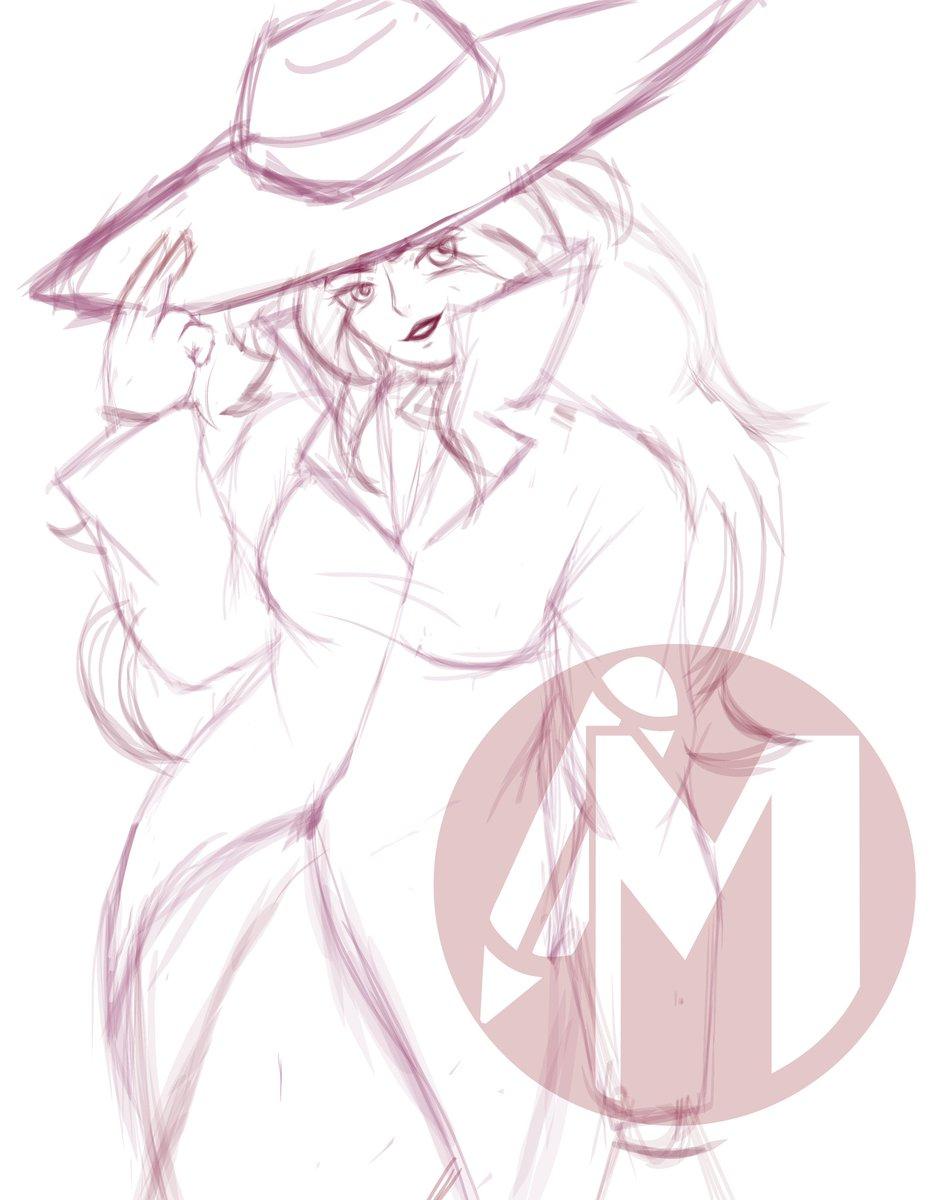 Carmen Sandiego sketch♥️♥️♥️ #CarmenSandiego #doodle #sketch #fanart https://t.co/snlazd68Ri