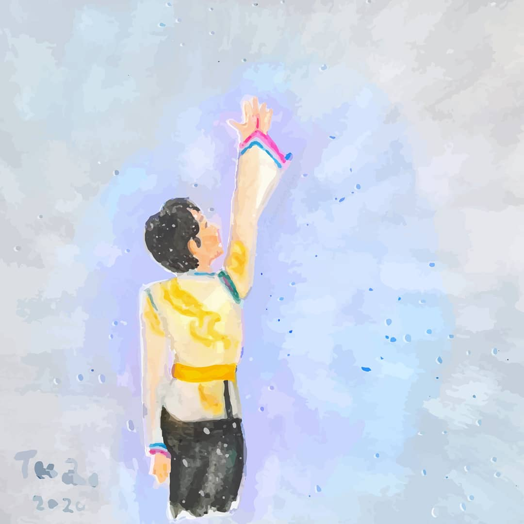 Still is #yuzuruhanyu #羽生結弦, I will always focus on him! #fanart #FanPage #yuzu #yuzuru #hanyu #painting https://t.co/3IcAjSzFJH
