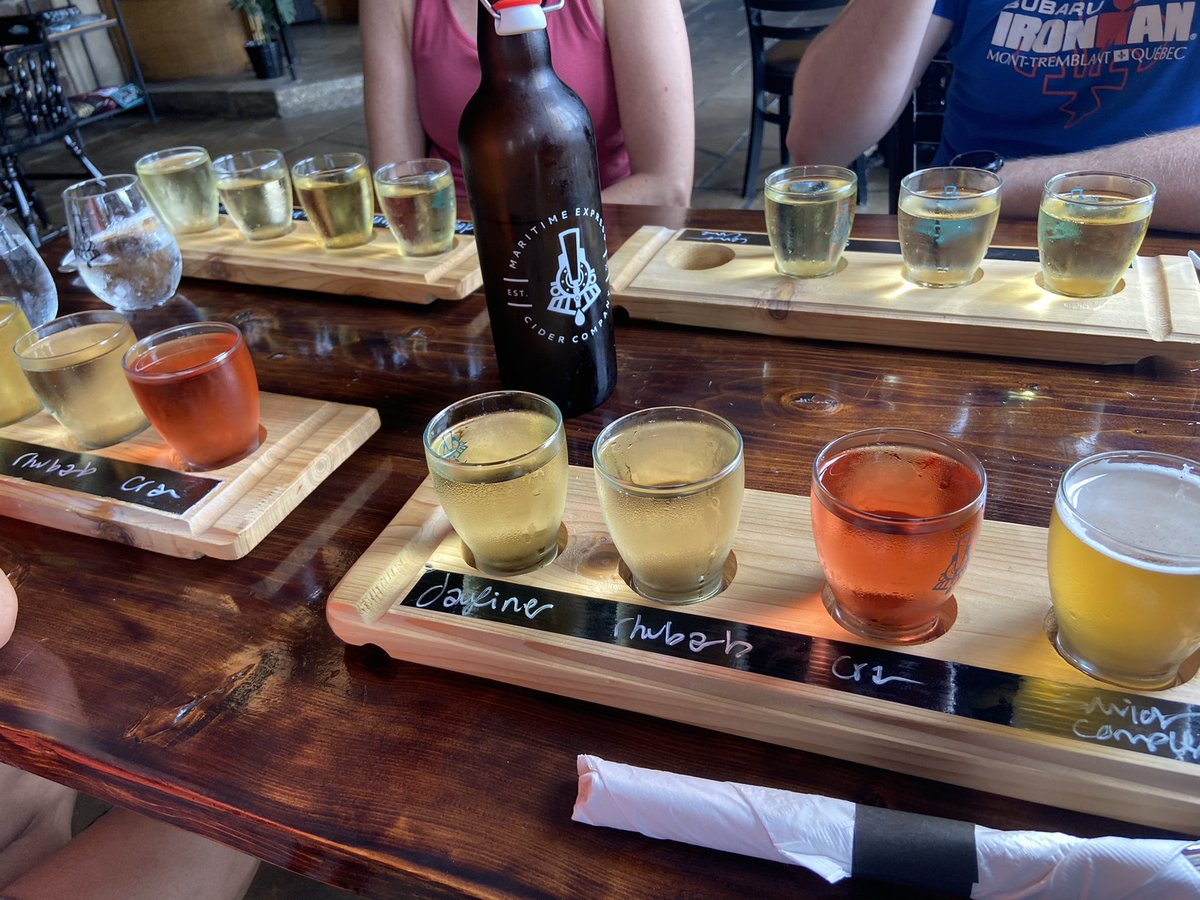 Post run drink. Annapolis valley (apple valley) has the best cider 😋#cider #valley #ciderflight https://t.co/5CdMRvtxW1