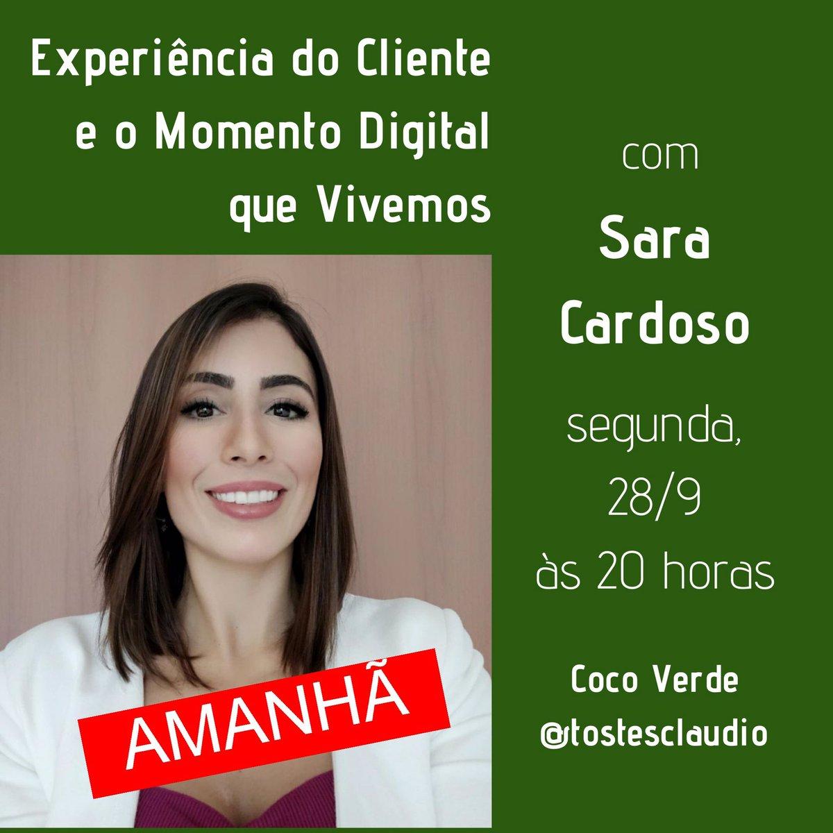 Amanhã, nossa conversa é com Sara Cardoso, profissional de marketing e especialista em Experiência do Cliente. Ela vai nos contar o que pensa sobre o momento digital que vivemos e desvendar os mistérios sobre multicanal e omnichannel. Vai ser dia 28, às 20h, no meu Instagram. https://t.co/71MVSY9u6K