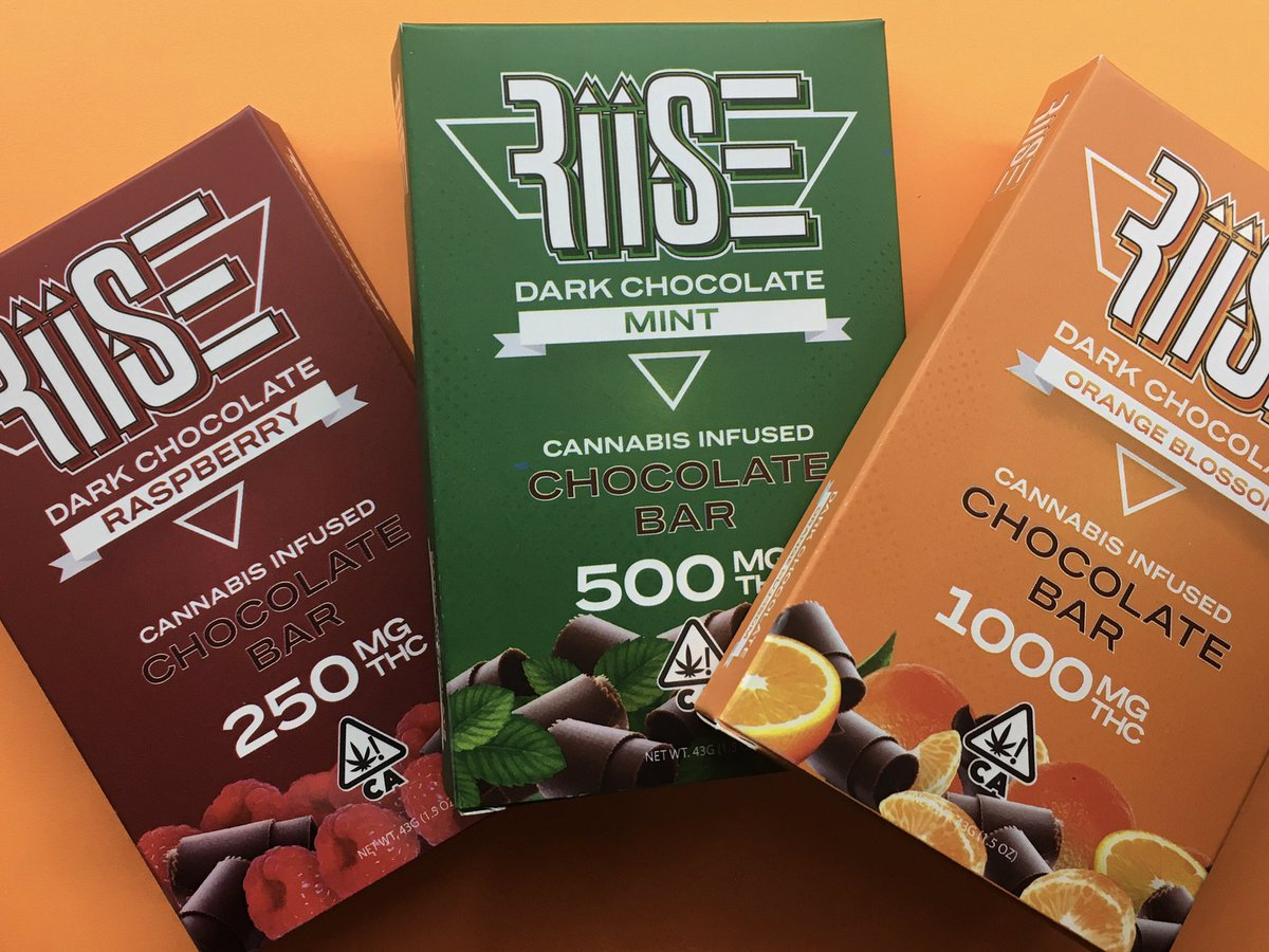 Our #RIISECHOCOLATE is the perfect way to satisfy your sweet tooth! #edibles #dank https://t.co/R4J07fUfCQ