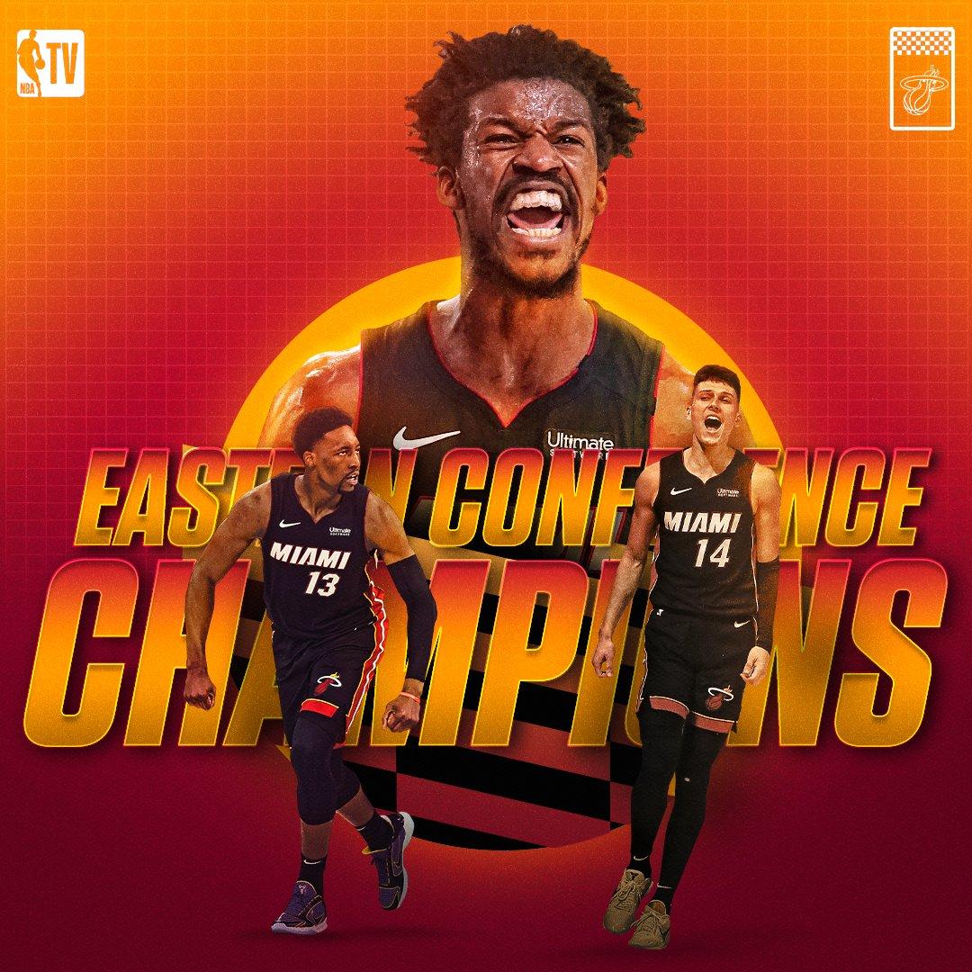 The @MiamiHEAT are NBA FINALS BOUND 🔥 https://t.co/PTZsvDUr69