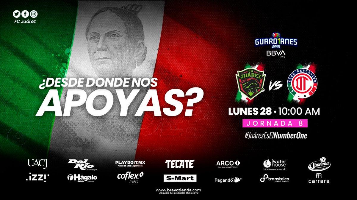 #Jornada8 #Guard1anes2020  Mañana tenemos partido de local  💚🐎  ¿Y tú? ¿Desde dónde nos apoyas?   ⚽ Jornada 8  🗓 MAÑANA  ⏱ 10:00 a.m 📺 @TUDNMEX. 🆚 @TolucaFemenil  #JuárezEsElNumberOne https://t.co/QBXoqNcsPR