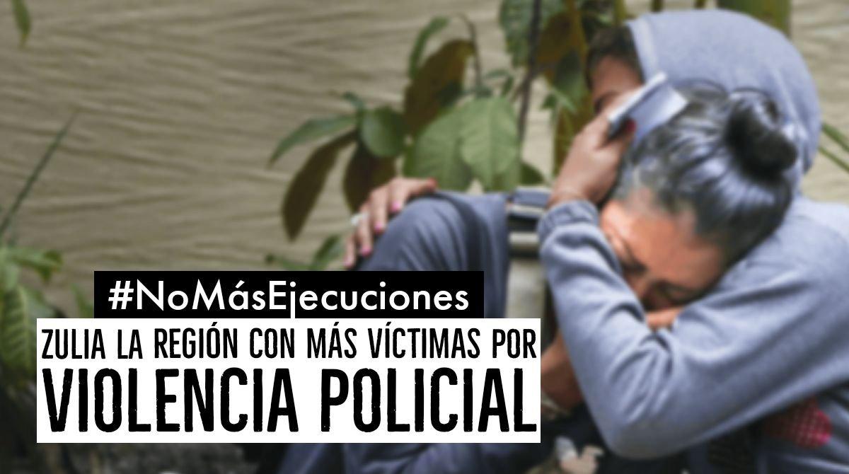 #27Sep El #Zulia es la región de Venezuela que registra más muertes por violencia policial de acuerdo a Codhez.  Hasta junio de 2020 se registraron 377 víctimas a manos de funcionarios de seguridad del Estado venezolano  https://t.co/tRRRwfk985 - @_Provea https://t.co/cLyCLpQ69A