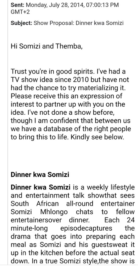 I remember hearing that Somizi has an ancestor thats providing him with his concepts but it appears like the #DinnerAtSomizis was stolen, does this mean That ancestor is a tsotsi?