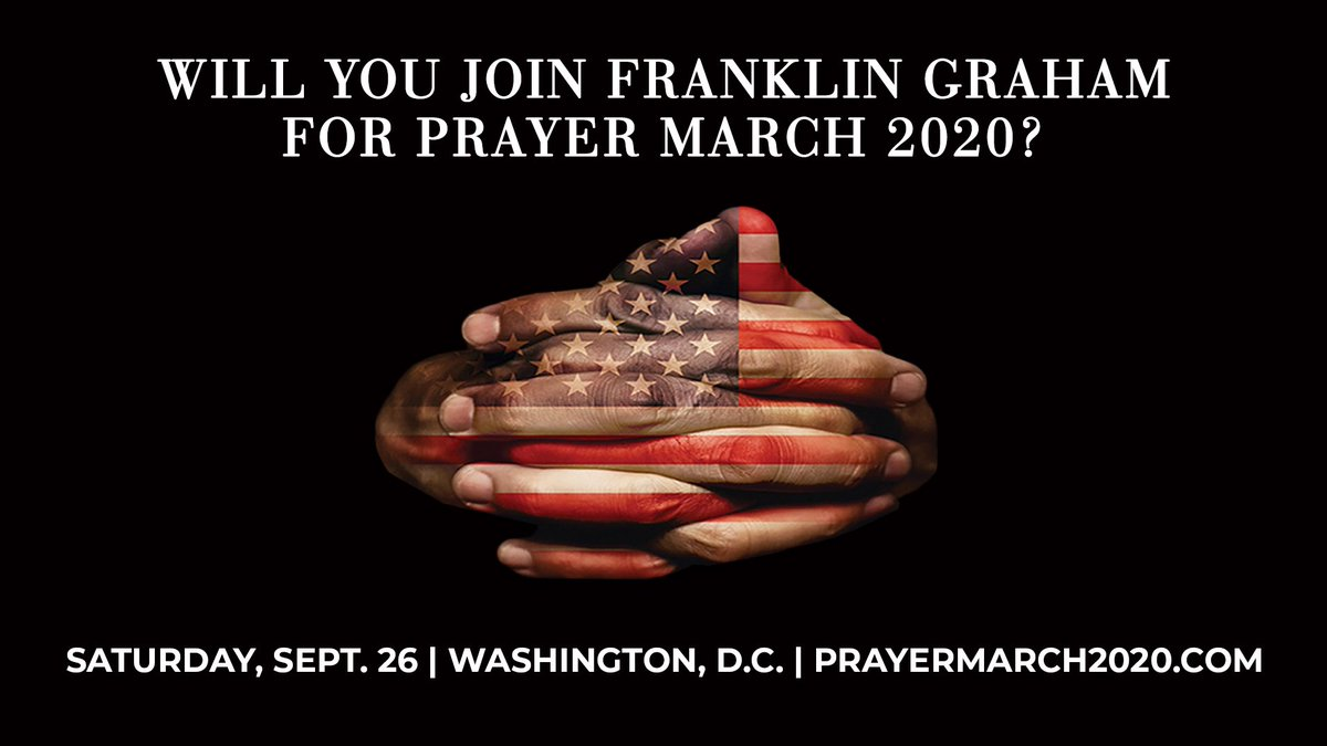 Will you join me? #PrayerMarch2020 Register at: PrayerMarch2020.com