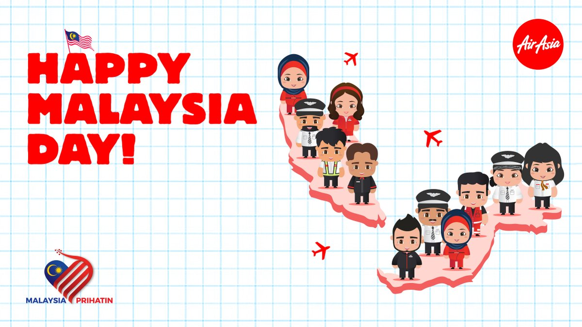 Happy Malaysia Day! 🇲🇾  What better way to celebrate this event than to explore and rediscover the beauty of our country? #LiveLifeNow and #cuticutimalaysia!   Book your flights with our low fares, only till midnight! Head over to https://t.co/aDoVsiCPWi now. ✈️ https://t.co/sQd6lCORcc