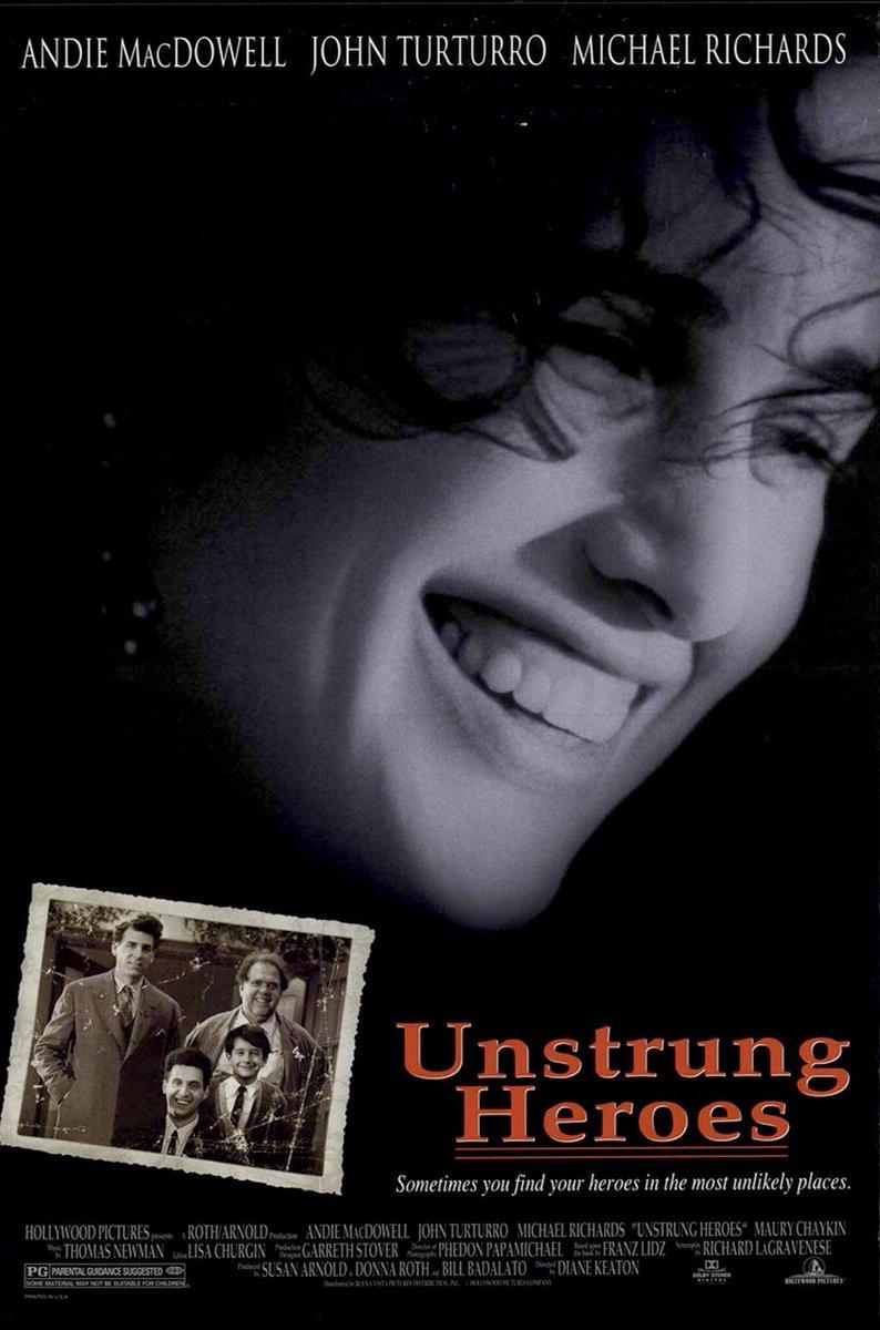🎬MOVIE HISTORY: 25 years ago today, September 15, 1995, the movie 'Unstrung Heroes' opened in theaters!  #AndieMacDowell #JohnTurturro #MichaelRichards #MauryChaykin #NathanWatt #CeliaWeston #CandiceAzzara #JackMcGee #DianeKeaton https://t.co/XU7vkcMtqY